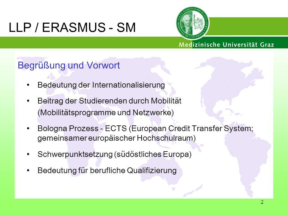 2 Begrüßung und Vorwort Bedeutung der Internationalisierung Beitrag der Studierenden durch Mobilität (Mobilitätsprogramme und Netzwerke) Bologna Proze