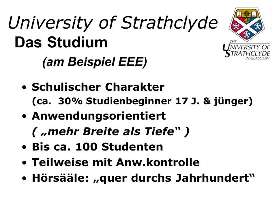University of Strathclyde Schulischer Charakter (ca.