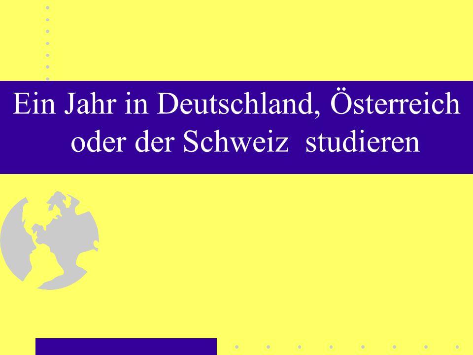Ein Jahr in Deutschland, Österreich oder der Schweiz studieren