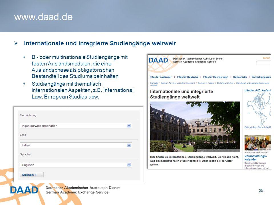 1 Internationale und integrierte Studiengänge weltweit Bi- oder multinationale Studiengänge mit festen Auslandsmodulen, die eine Auslandsphase als obl