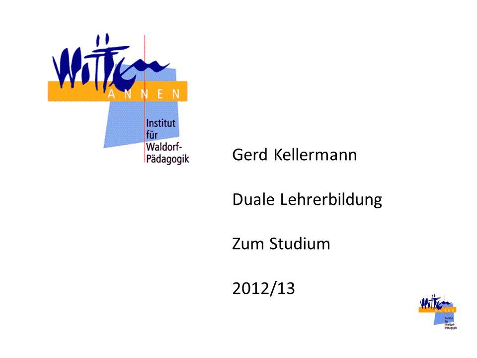 Gerd Kellermann Duale Lehrerbildung Zum Studium 2012/13