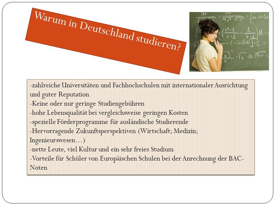 Warum in Deutschland studieren.