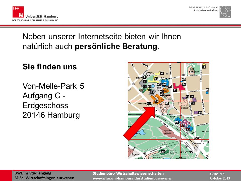 BWL im Studiengang M.Sc. Wirtschaftsingenieurwesen Studienbüro Wirtschaftswissenschaften www.wiso.uni-hamburg.de/studienbuero-wiwi www.wiso.uni-hambur