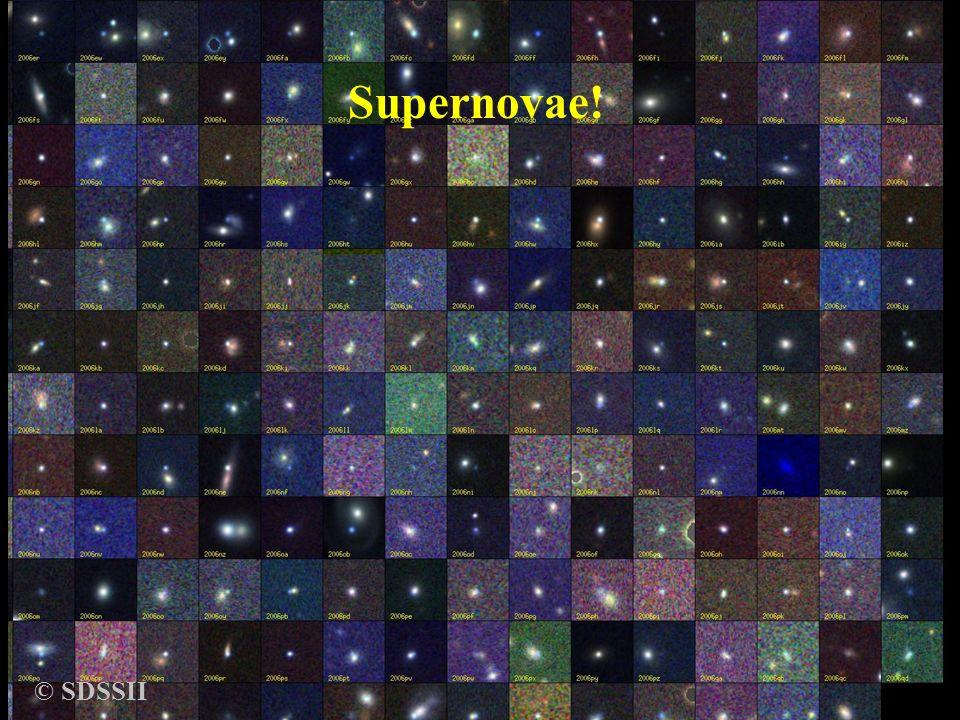 SupernovaeBruno Leibundgut © SDSSII Supernovae!