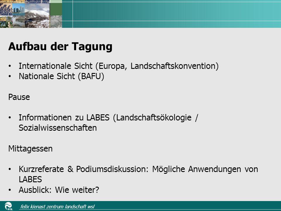 WSL felix kienast zentrum landschaft wsl Zusammenfassungen / erste vier Seiten des fertig ge-layouteten Zustandsberichts 2013 der im Spätsommer 2013 verfügbar ist (D/F) Bücher- und Broschürentisch Datenverfügbarkeit Unterlagen