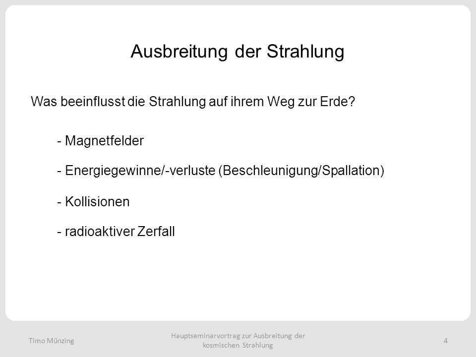 Ausbreitung der Strahlung Was beeinflusst die Strahlung auf ihrem Weg zur Erde? Hauptseminarvortrag zur Ausbreitung der kosmischen Strahlung 4 - Magne