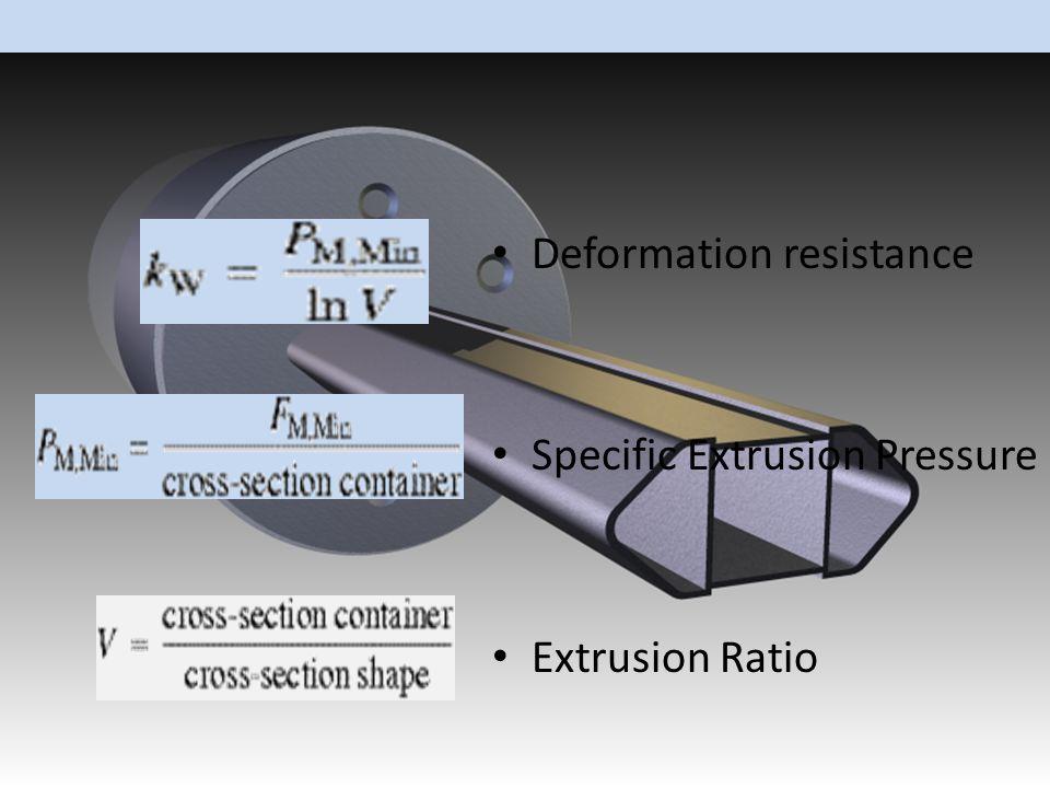 Deformation resistance Specific Extrusion Pressure Extrusion Ratio
