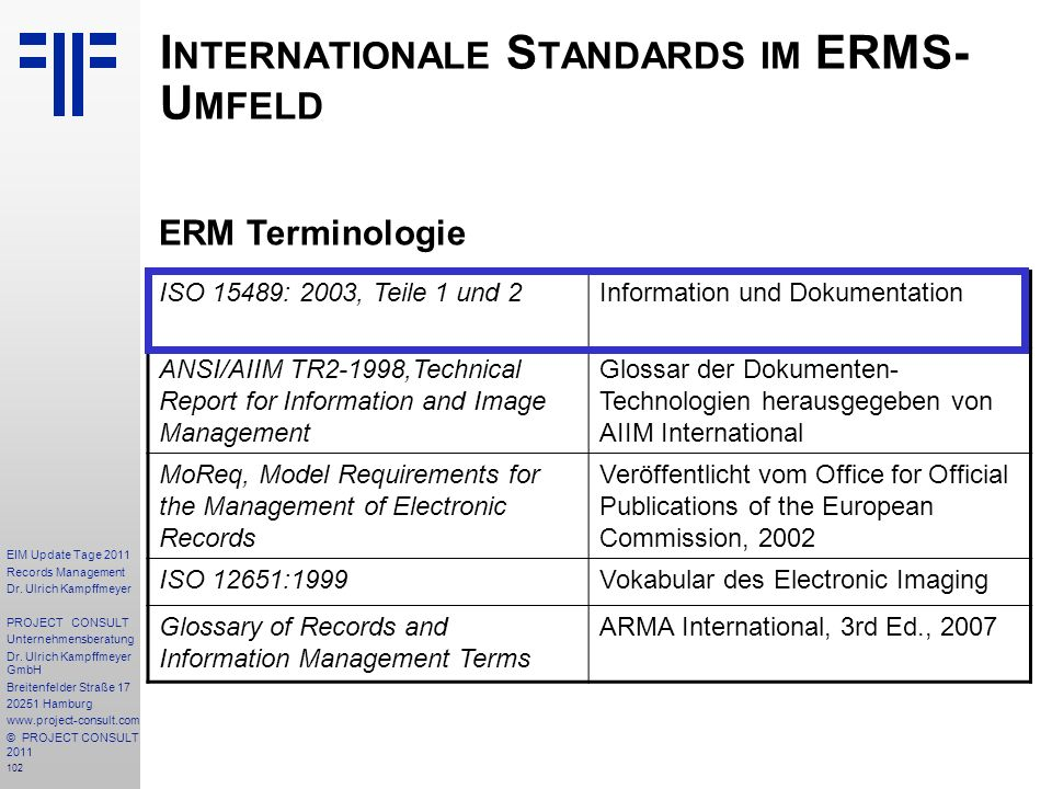 102 EIM Update Tage 2011 Records Management Dr.