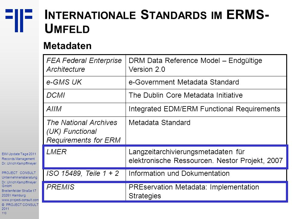 110 EIM Update Tage 2011 Records Management Dr.