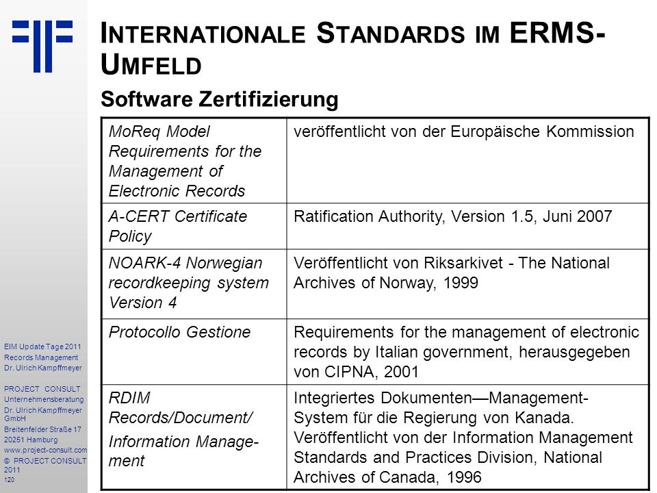 120 EIM Update Tage 2011 Records Management Dr.