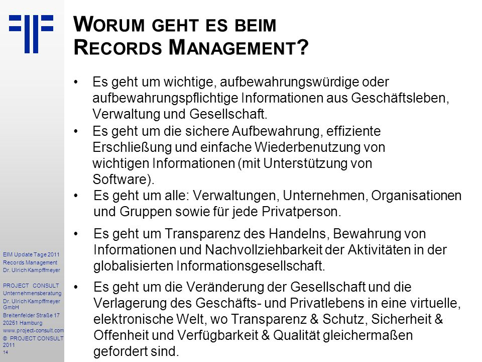 14 EIM Update Tage 2011 Records Management Dr.