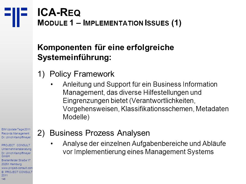 146 EIM Update Tage 2011 Records Management Dr.