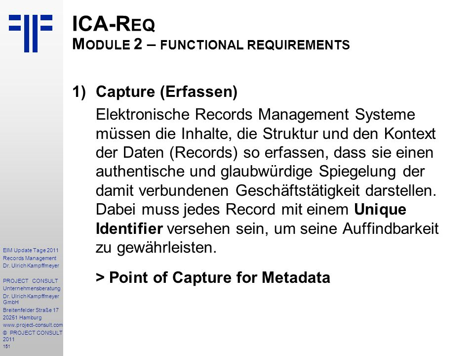 151 EIM Update Tage 2011 Records Management Dr.