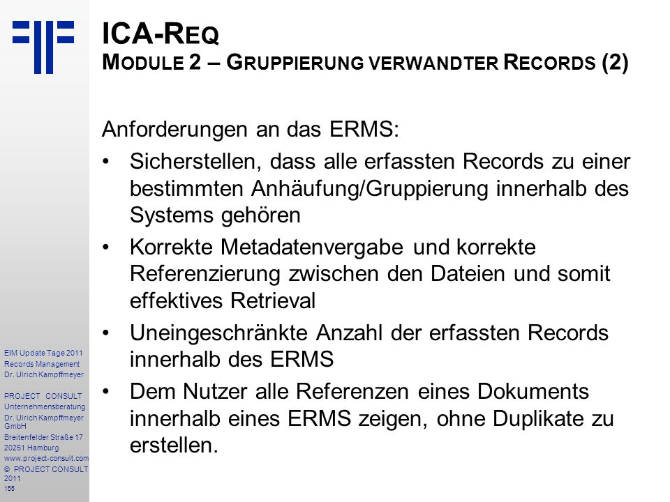 155 EIM Update Tage 2011 Records Management Dr.