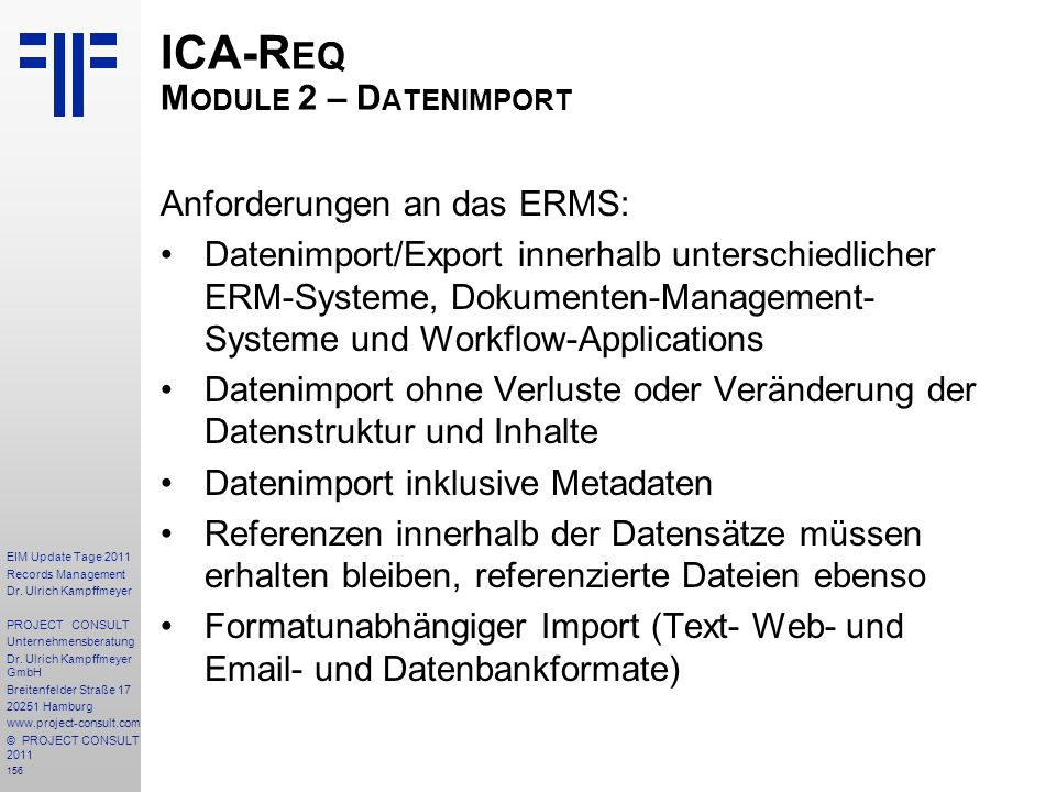 156 EIM Update Tage 2011 Records Management Dr.