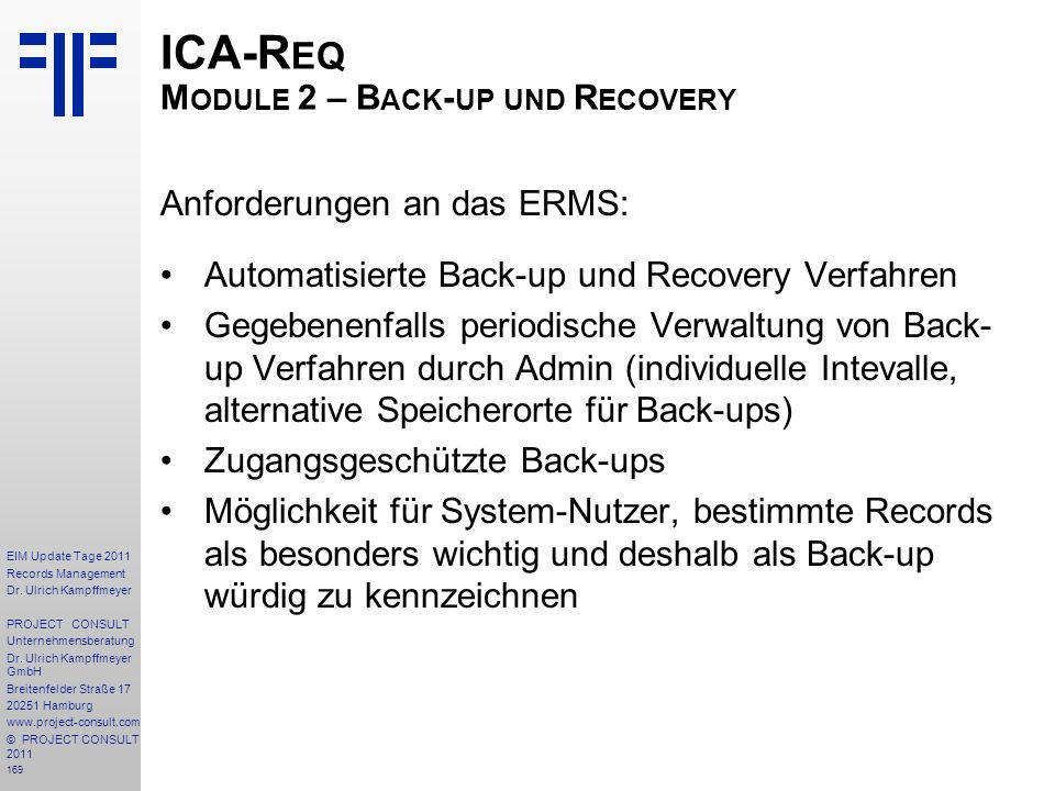 169 EIM Update Tage 2011 Records Management Dr.