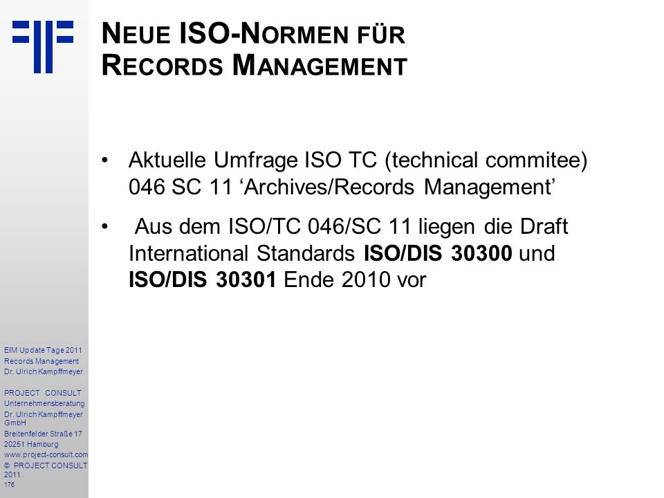 176 EIM Update Tage 2011 Records Management Dr.