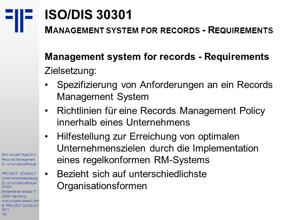 182 EIM Update Tage 2011 Records Management Dr.