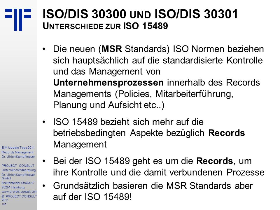 185 EIM Update Tage 2011 Records Management Dr.