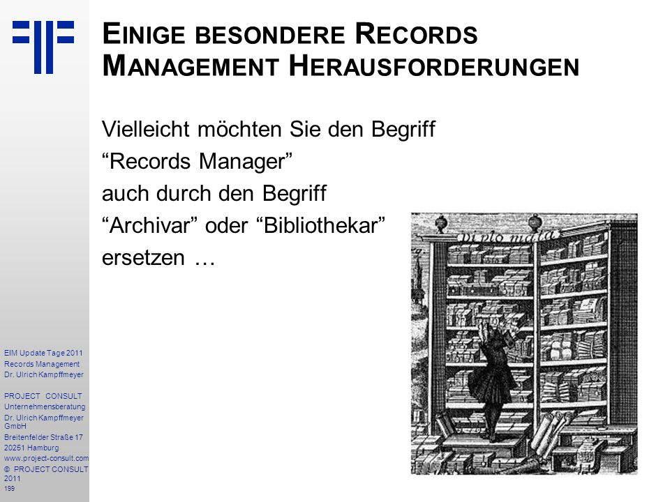199 EIM Update Tage 2011 Records Management Dr.