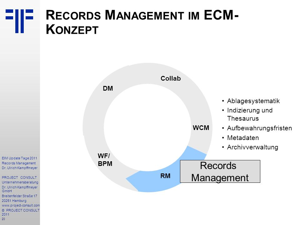 20 EIM Update Tage 2011 Records Management Dr.