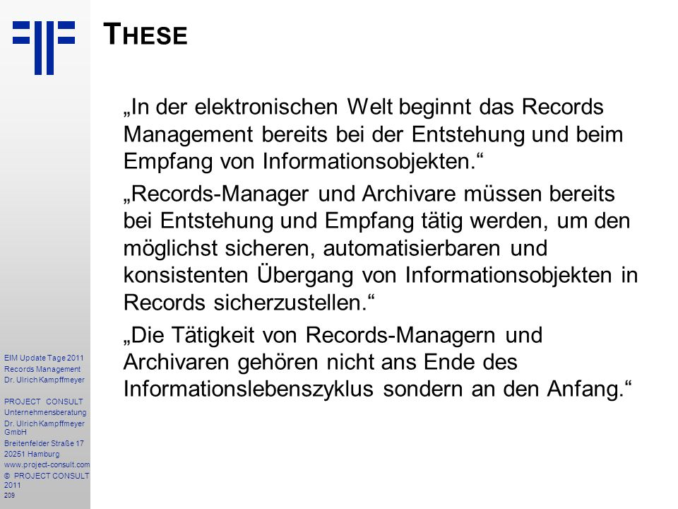 209 EIM Update Tage 2011 Records Management Dr.