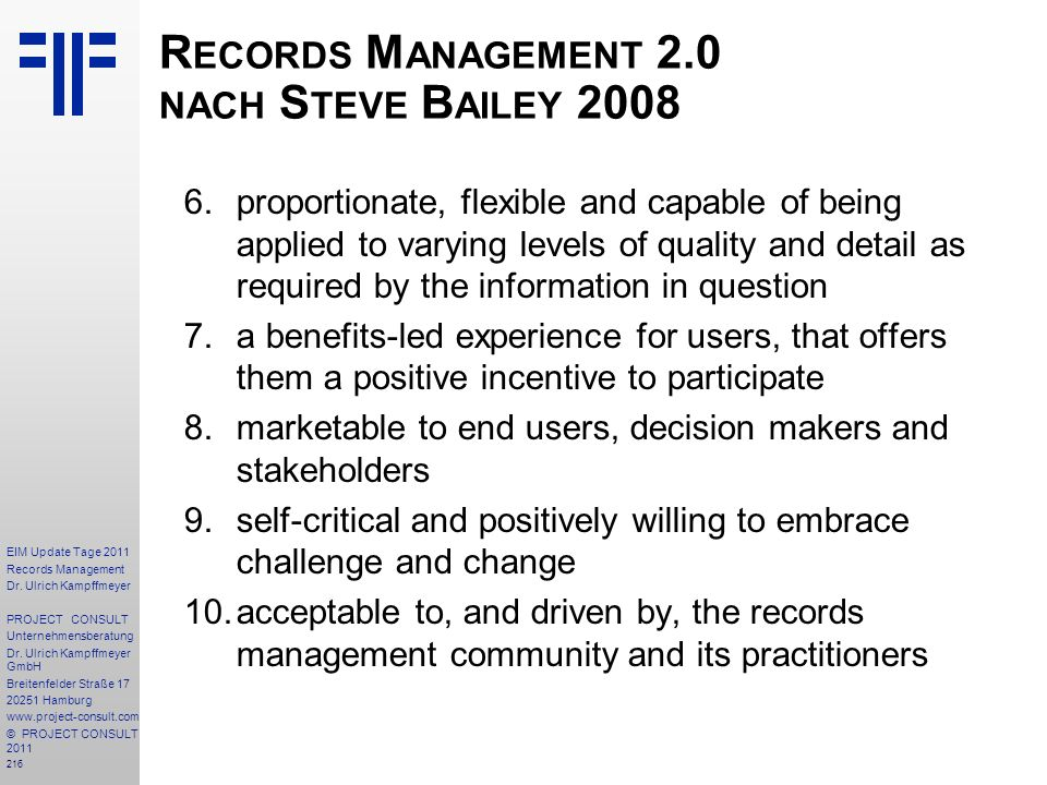 216 EIM Update Tage 2011 Records Management Dr.