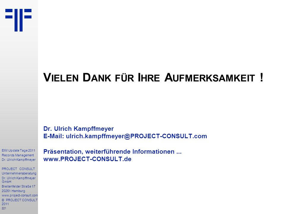 221 EIM Update Tage 2011 Records Management Dr.