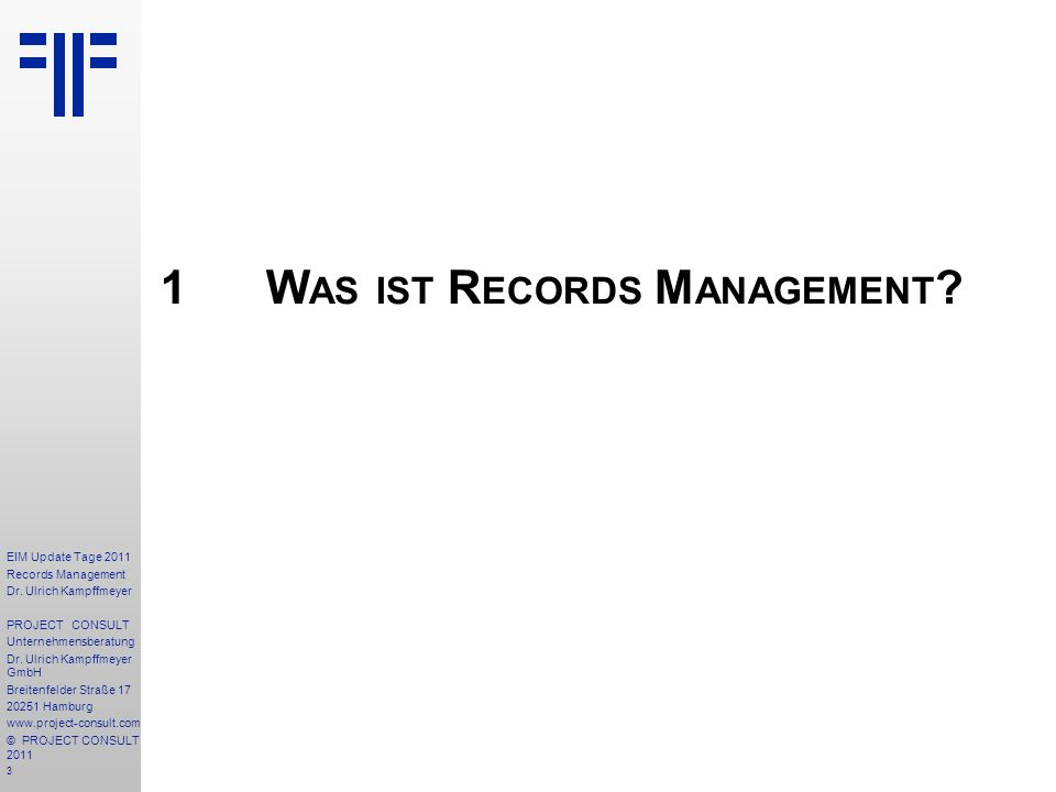 74 EIM Update Tage 2011 Records Management Dr.