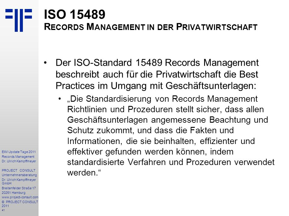 41 EIM Update Tage 2011 Records Management Dr.