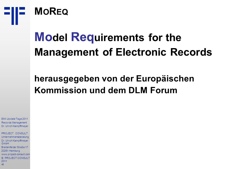 45 EIM Update Tage 2011 Records Management Dr.