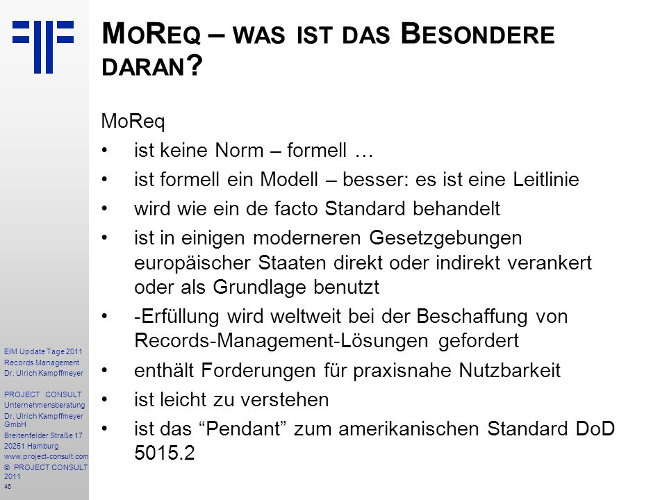 46 EIM Update Tage 2011 Records Management Dr.