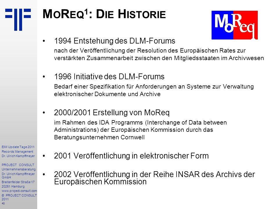 48 EIM Update Tage 2011 Records Management Dr.