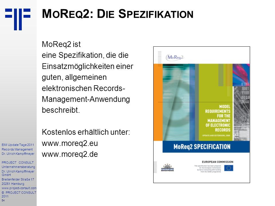 54 EIM Update Tage 2011 Records Management Dr.