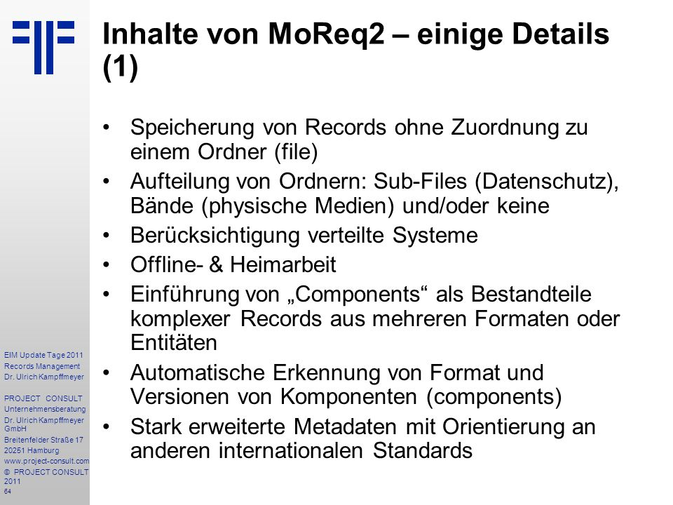 64 EIM Update Tage 2011 Records Management Dr.