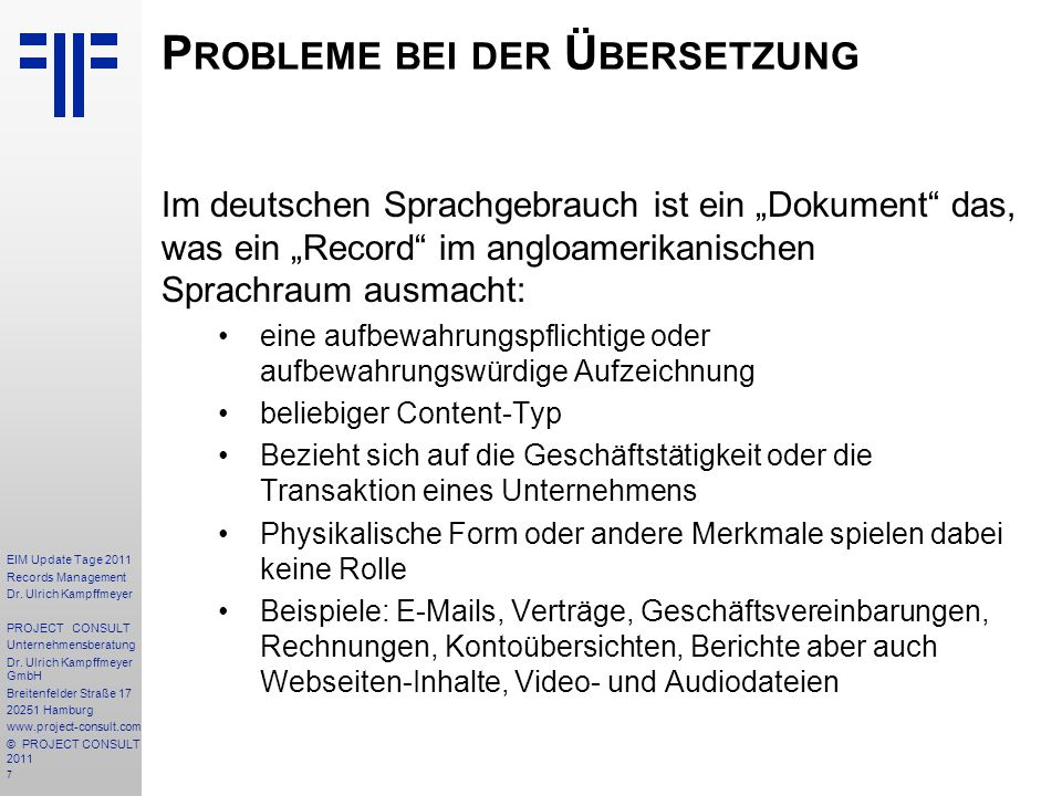 7 EIM Update Tage 2011 Records Management Dr.