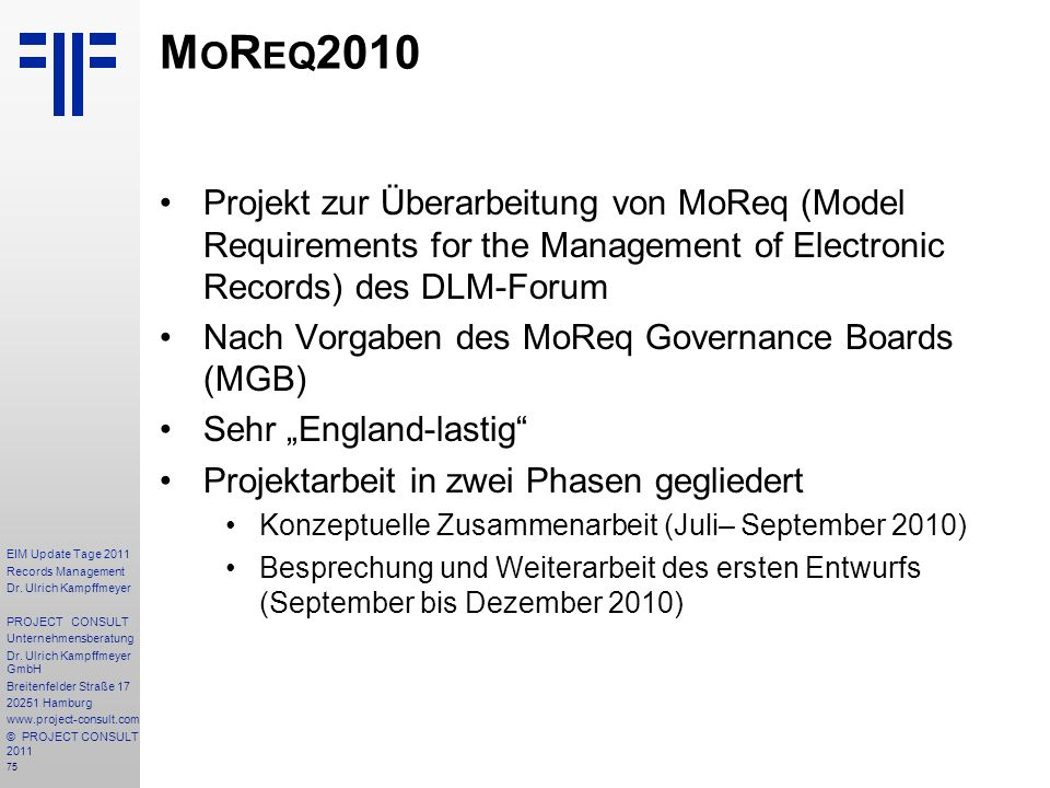 75 EIM Update Tage 2011 Records Management Dr.