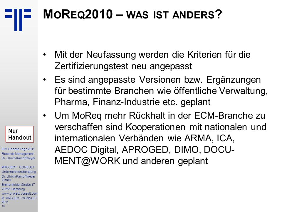 78 EIM Update Tage 2011 Records Management Dr.