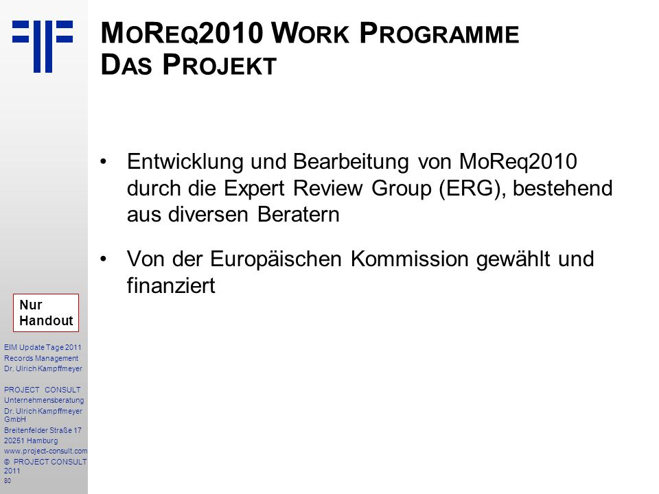 80 EIM Update Tage 2011 Records Management Dr.
