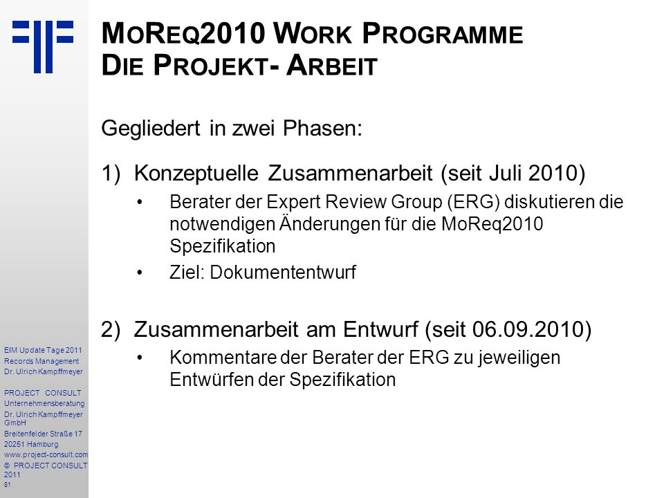 81 EIM Update Tage 2011 Records Management Dr.