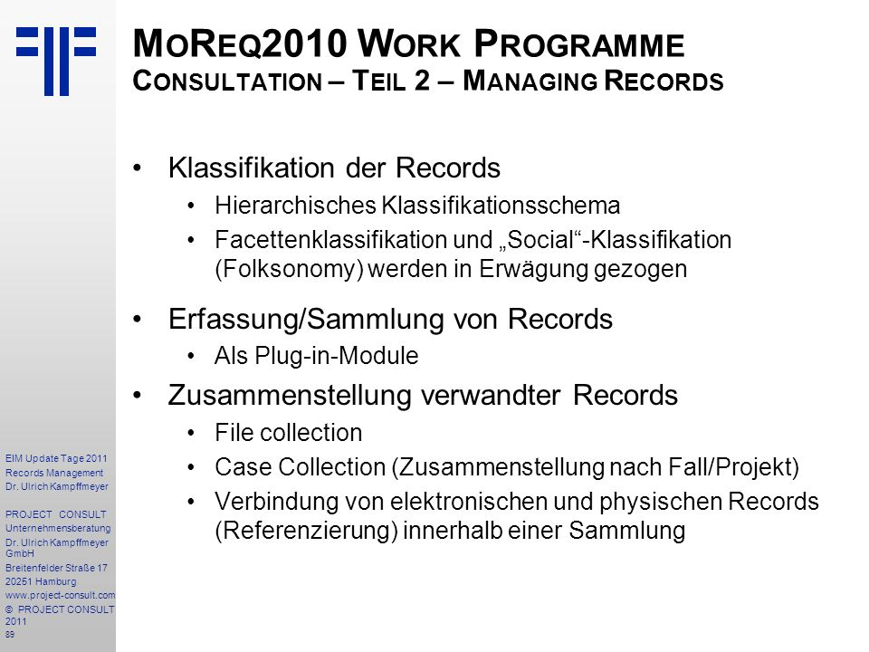 89 EIM Update Tage 2011 Records Management Dr.