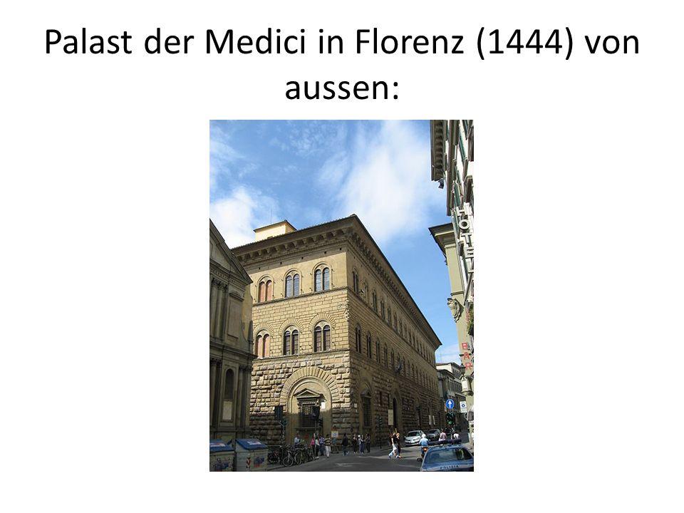 Palast der Medici in Florenz (1444) von innen: