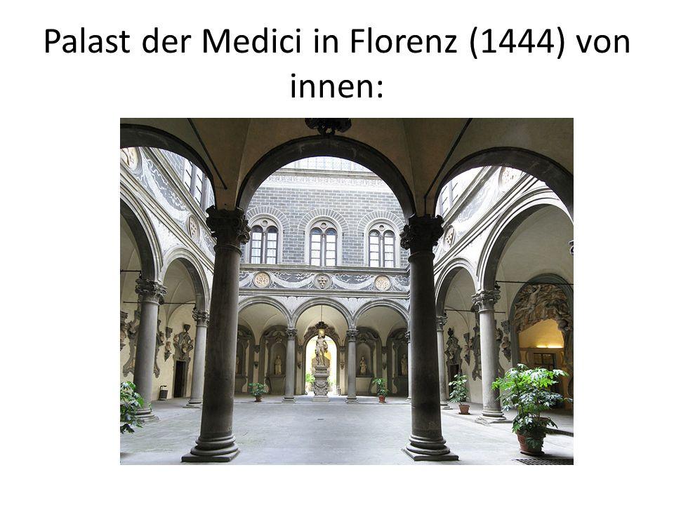 Kirchenbau der Renaissance: Gewölbe werden durch Kassettendecken ersetzt Massive Wände Inkrustationstechnik (verschiedenfarbene Marmoreinlagen) Kuppel (Kreis gilt als vollendete Form, Symbol Gottes)