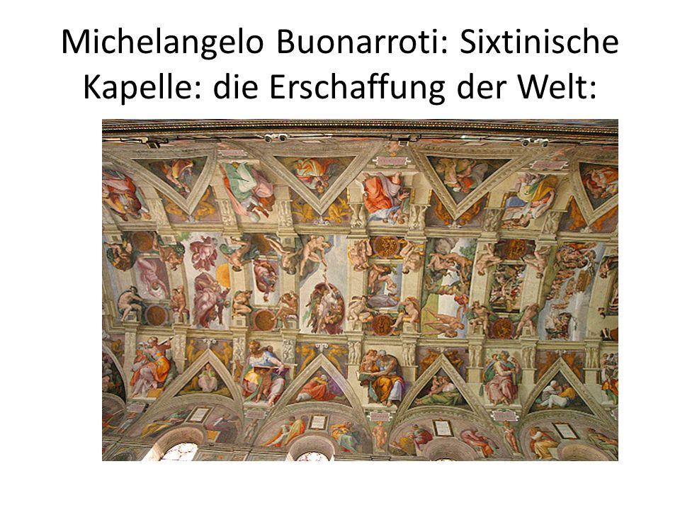 Michelangelo Buonarroti: Sixtinische Kapelle: die Erschaffung Adams: