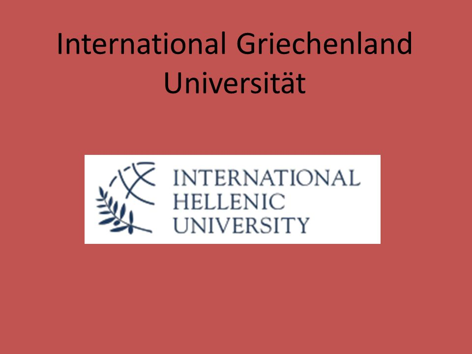 International Griechenland Universität