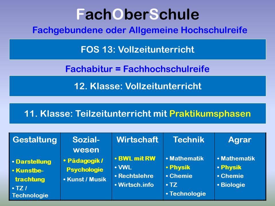 J. Gräbner, Beratungslehrer am DHG Würzburg FachOberSchule Gestaltung Darstellung Kunstbe- trachtung TZ / Technologie Sozial- wesen Pädagogik / Psycho