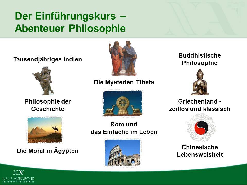 Der Einführungskurs – Abenteuer Philosophie Chinesische Lebensweisheit Die Moral in Ägypten Rom und das Einfache im Leben Griechenland - zeitlos und k
