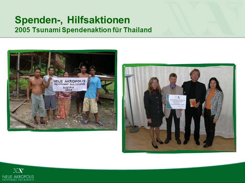 Spenden-, Hilfsaktionen 2005 Tsunami Spendenaktion für Thailand