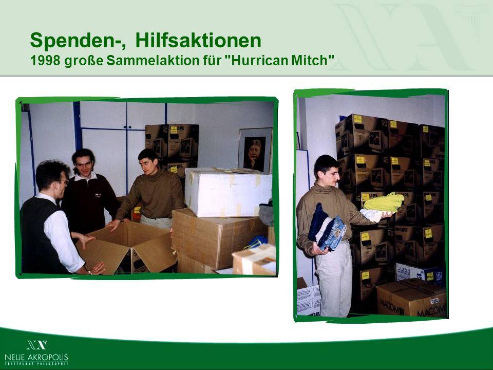 Spenden-, Hilfsaktionen 1998 große Sammelaktion für