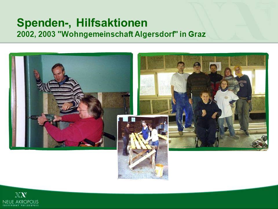 Spenden-, Hilfsaktionen 2002, 2003